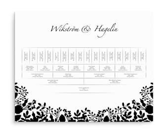 Family Tree Chart, Family Trees, 5 Generations, Family Tree Print, Personalized, Generation Tree, Gift, Genealogy Charts, Släktträd