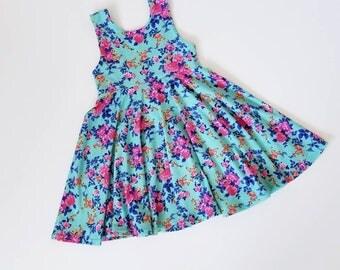 Knit Dress or Peplum Top Pink Floral