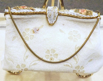 SEED PEARL and ENAMEL purse