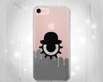 Clockwork Orange Blood Dripping Inspired Transparent Clear Case For iPhone 7 7 Plus 6 6S 6 Plus 6S Plus SE 5 5S