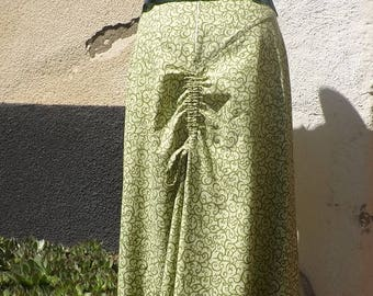 Skirt long HAZIEL Baroque Elvish ruching at the back by link Sanlivine
