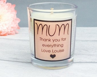 Gift for Mum, Mothers Day Gift, Mothers Day Candle, Gift for Mothers Day, Personalised mothers day candle gift, Custom mum gift,