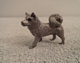 Pewter Dog Figurine