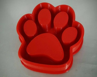 Small paw print cookie cutter