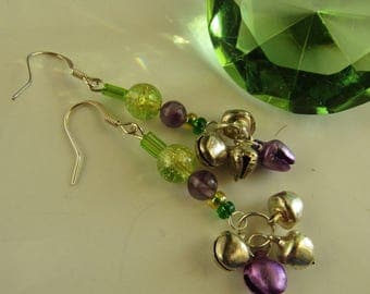 Faery Bells ~ Crystal and Glass Earrings