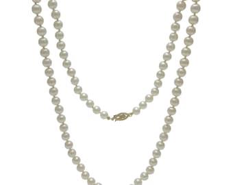 Vintage 20″ Strand Cultured Pearl Necklace