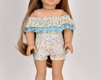 Romper Off the Shoulder 18 inch doll clothes