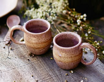 Pale Pink Coffee Mug Set of (2)