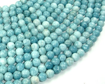 Larimar Quartz, 6mm(5.8mm) Round Beads, 15.5 Inch, Full strand, Approx 67 beads, Hole 1mm (301054001)