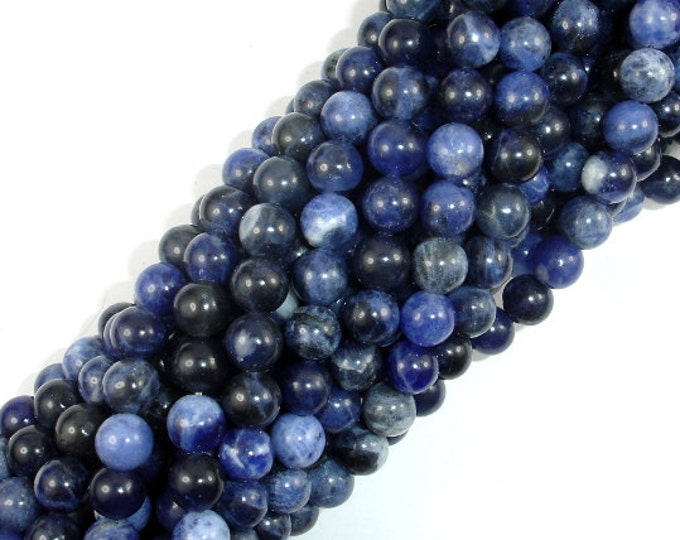 Sodalite Beads, 6mm (6.5mm) Round Beads, 15.5 Inch, Full strand, Approx 62 beads, Hole 1 mm, A quality (411054008)