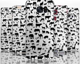 BG0138 Plastic hard case print, personalized/ custom/ personalised phone protective case animal silhouettes