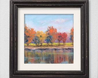 """Original Pastel Painting """"Autumn Landscape"""""""