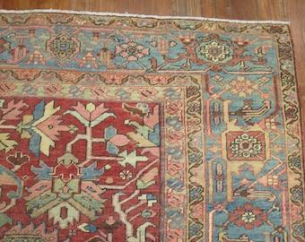 Antique Persian Heriz Rug Size 9'7''x12'9''