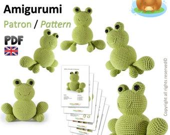 Frog Amigurumi Crochet Pattern - British Terminology