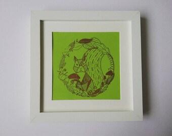 Foil prints, squirrel prints, foil, animal print