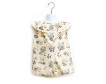 Vintage Easter Short Romper//Baby Romper//Toddler Romper