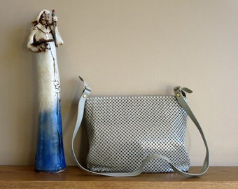 Whiting And Davis Metal Mesh Shoulder Bag In Mid Century Style- Made In United States- EUC
