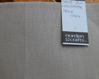 40 ct. Stone Grey Newcastle Linen (1/8th yard pricing)