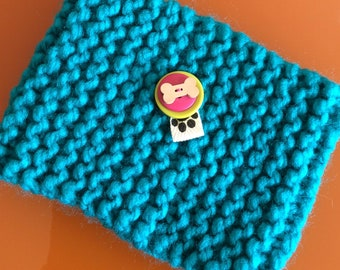 Dog Snood in Turquoise Knit
