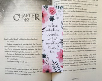 We Lose Ourselves in Books Bookmark