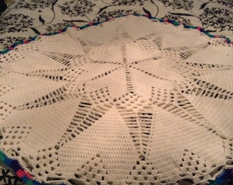 Star and Hearts Baby Afghan