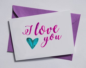 I love you Valentines Greetings Card