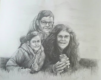 Pencil Portrait, from photograph tailored to your requirements, variable and affordable  prices