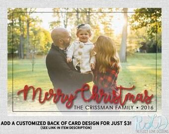Christmas Photo Card Merry Christmas Digital Printable File