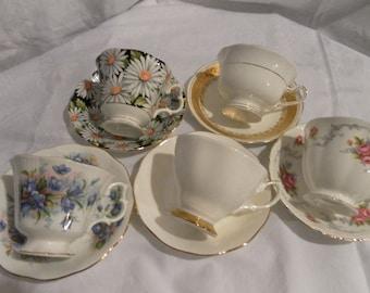 Teacup & Saucer set of 5