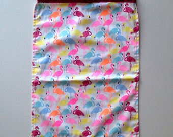Library Bag - Flock of flamingoes