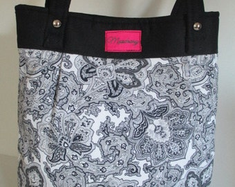Paisley Purse/Bag Black and White