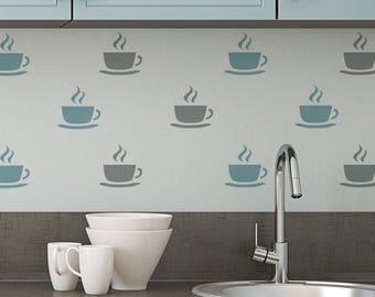 CraftStar Teacup Stencil - Reusable Mylar Tea Cup / Coffee Cup Stencil