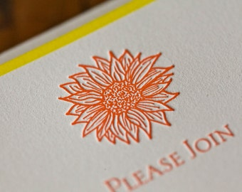 Sunflower Fill in Invitation