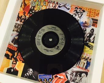 Retro Vintage Original Framed Vinyl 'No.1 Hit Record 'On the day you were born' 1978 Unique 40th Birthday Gift
