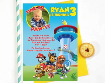Paw Patrol Birthday Party Invitation