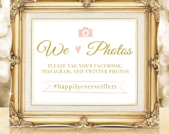 Wedding Hashtag Sign Printable Art, Instagram Wedding Sign, Instagram Poster, Snap Chat Sign, Custom Wedding Sign, Wedding Decor