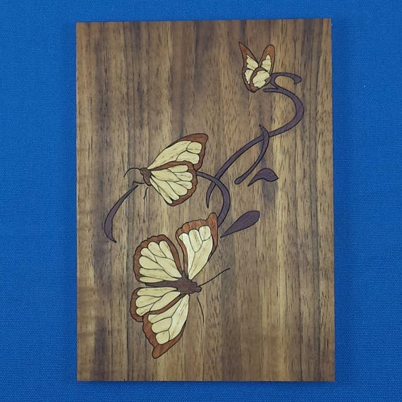 "Marquetry Kit - 5""x 7"" Butterflies"