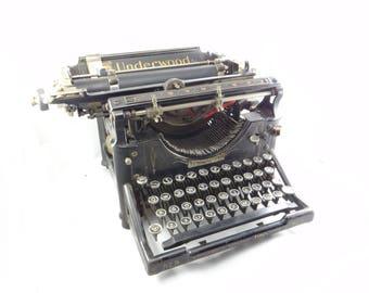 Antique Underwood Typewriter, Antique Typewriter, Vintage Typewriter, Black Typewriter