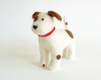 Needle Felted Patch The Dog!