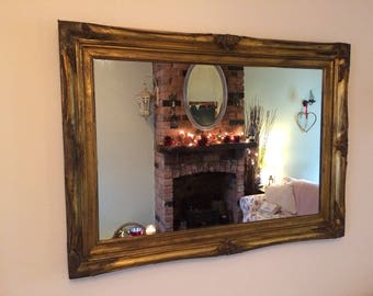 Beautiful Gold Mirror Lovely large Mirror Ornate mirror