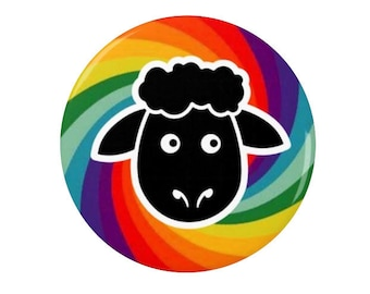 Black Sheep of the family  -   Badge/Fridge Magnet - individual - unique