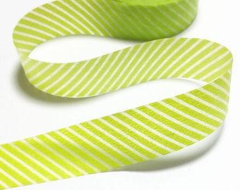 Green Stripes Washi Tape / Green Stripes Decorative Tape / Green Stripes Masking Tape / Japan Masking Tape 10m c06