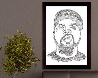 Ice Cube Lyric Poster