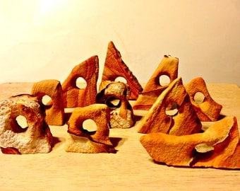 Southwestern Sandstone Sculptures,Mini Brown Banded Sandstone,Utah,Zion,Arizona,Great Gift for men, Picture Sandstone