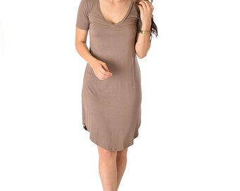 Truly Madly Deep-V Neck Dress