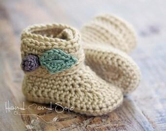 Crochet Baby Booties Pattern, Baby Booties Crochet Pattern, Baby Girl Crochet Booties Pattern, Crochet Pattern Baby Booties Sizes  - 18 Mos