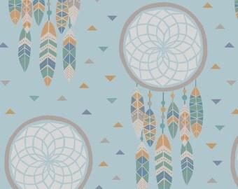 To Catch a Dream-Cotton Fabric-Quilting Fabric-dream catchers-Modern-Gender Neutral-Blue