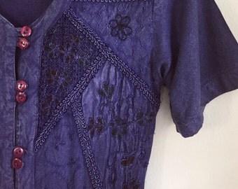 SALE: 80s 90s Dress // Hippie Dress // Boho Dress // Emroidered Dress // Vintage Long Dress // Maxi Dress