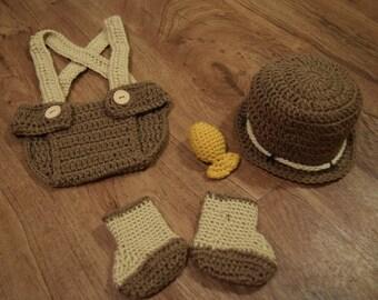 Fisherman Diaper Cover Set.