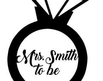 Wedding Last Name to be Heat Transfer Iron On Decal